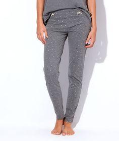 Pyjama 3 pieces, veste polaire, pantalon noeuds, top chat - BE CHIC - GRIS - Etam