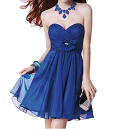 Winnie Bride Women's Bridesmaid Dress Short With Flower Homecoming Prom Dress
