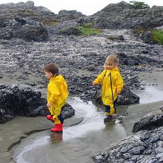 Don't let the rain spoil your vacation or keep you cooped up indoors! These wonderful nylon, PVC- free, breathable Muddy Buddy one-piece rainsuits can tackle whatever the weather throws at you!