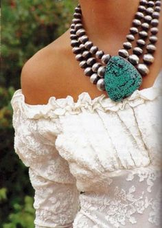 navajo pearls and turquoise