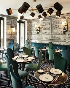 Eye candy on steroids! La Gauche Caviar Restaurant in St. Germain des Pres in Paris. A gorgeous boutique hotel in the most beautiful city in the world. #stgermaindespres #paris #interiors #architecture #restaurantdesign