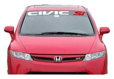 Honda Civic SI Windshield Banner Decals
