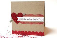 Happy Valentine's Day Card by Heather Nichols for Papertrey Ink (December 2013)