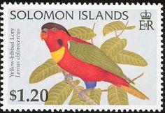 Islas Solomon 1996 -  El Lorito Acollarado,puebla las selvas de las islas Salomón
