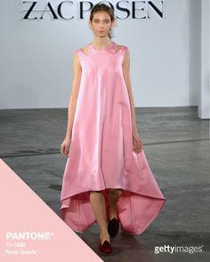 Rose Quartz at Zac Posen: Fashion by Getty Images - Each season PANTONE® creates a Fashion Color...