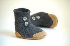 felted sweater booties...etsy