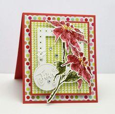 Penny Black supplies 80-017 Festive & Frosty 51-366 Joyful Ornaments  51-375 Snowflake Stitch Frames 40-573 Red Delight  ...