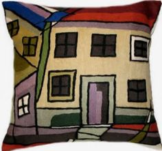 Contemporary Throw Pillows – Picasso Town II