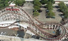 Aerial view of Coney Island's Cyclone Rollercoaster a couple of years ago when it was run by Astroland.