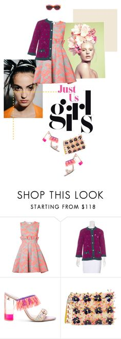 """""""Just Us."""" by simonedevine on Polyvore featuring Haider Ackermann, MSGM, Chanel, Sophia Webster, Trina Turk and Gucci"""