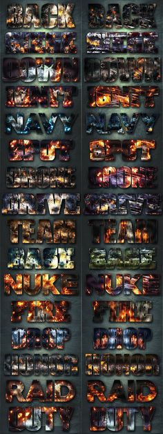 32 Extreme War Layer Styles Bundle 1. Layer Styles