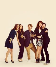 Game of Thrones crew (Rose Leslie, Emilia Clarke, Alfie Allen, Michelle Fairley, Richard Madden)
