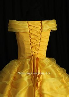 Beauty and the Beast Belle Classic Yellow Gown Yellow Dress Summer, Yellow Gown, Disney Princess Dresses, Princess Costumes, Corsets, Beauty And The Beast Dress, Robes Disney, Dresses For Sale, Girls Dresses