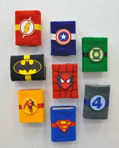 Art Design Imagination: superheroes valentines, would make cute gifts any time o. Holz Handwerk , Art Design Imagination: superheroes valentines, would make cute gifts any time o. Art Design Imagination: superheroes valentines, would make cute gi. Superhero Gifts, Superhero Birthday Party, Valentine Day Boxes, Valentine Crafts, Party Favors For Adults, Matchbox Crafts, Creative Gift Wrapping, Creative Workshop, Camping Crafts