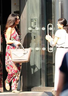 Is Amal Alamuddin Going to Wear Alexander McQueen on Her Wedding Day? George Clooney's Fiancée Visits Design House in London  Amal Alamuddin