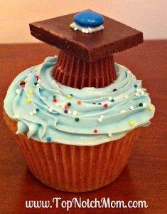 Graduation Cupcake Idea  www.TopNotchMom.com