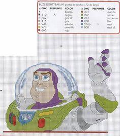 toy story buzz lightyear x-stitch