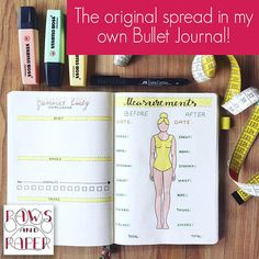 Weight Loss PRINTABLE • Bullet Journal Insert • Inches Lost Chart • Measurements Chart • Weight Loss Tracker • Planner Printable • Chart | #ad