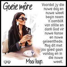 Evening Greetings, Goeie More, Afrikaans Quotes