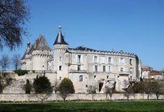 Le château de Jonzac.. Poitou-Charentes