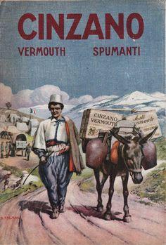 Cinzano Vermouth ~ S. Vintage Italy, Vintage Wine, Retro Vintage, Italian Posters, Art Deco Posters, Poster Ads, Poster Vintage, Wine And Spirits, Roman Empire