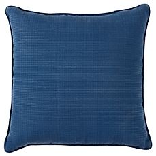 image of Forsyth Outdoor 17-Inch Square Throw Pillow in Indigo