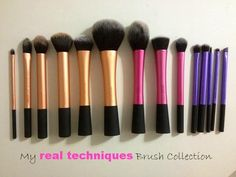 Real Techniques brushes: blush for bronzer, setting for concealer, contour for setting concealer. Eyes are great, buffing and stippling are my favorites!