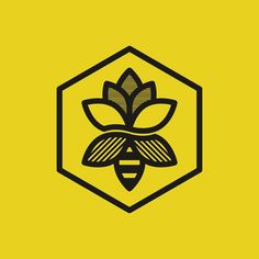 Flower Bee logo by goodcuffdesign