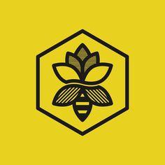 Flower Bee logo by goodcuffdesign