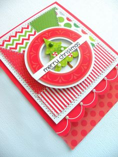 Doodlebug Design Inc Blog: Tuesday Tutorial: Patchwork Christmas Card