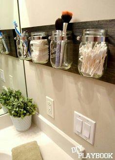 Great toiletries organization idea!