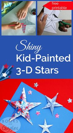 How to make aluminum foil 3-D painted patriotic stars for patriotic holidays like 4th of July & Memorial Day