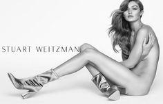 Gigi Hadid posó sin ropa para su más reciente campaña con Stuart Weitzman. Checa aquí abajo todas las imágenes.