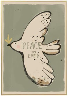 Peace Poster, Bird Poster, Soft Colors, Colours, Peace Bird, Earth Poster, Paper Ship, Animal Posters, Peace On Earth