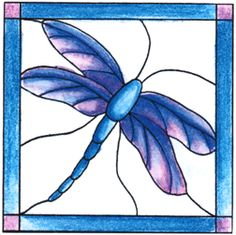 Dragonfly Stained Glass Cling Stampbr(Click to see card sample)