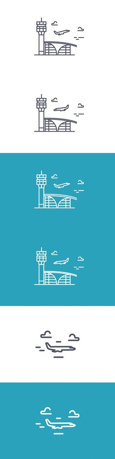 Airport building.Vector line icon.. Travel Icons. $3.00