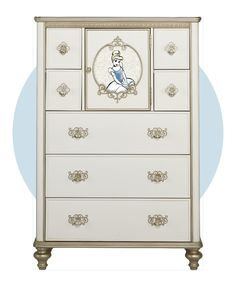 Captivate her imagination and creativity with the multi-functional Enchanted Kingdom tall chest.