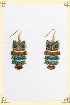 Wide Eyed Owl Earring @Francesca's Collections $18.00