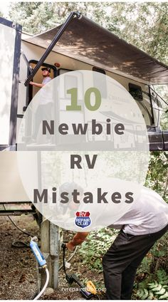 There are some common mistakes that new RVers make that should be avoided if possible! Avoiding these 10 common mistakes can save you a lot of headache, hassle and money! Rv Camping Checklist, Rv Camping Tips, Travel Trailer Camping, Camping Ideas, Rv Videos, Rv Rental, Rv Life, Camping Organization, 5th Wheels