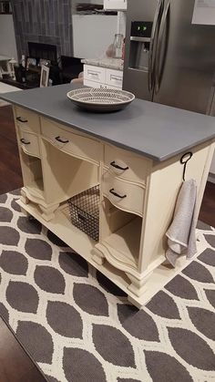 Farmhouse Finds - Vanity Turned Into Kitchen Island