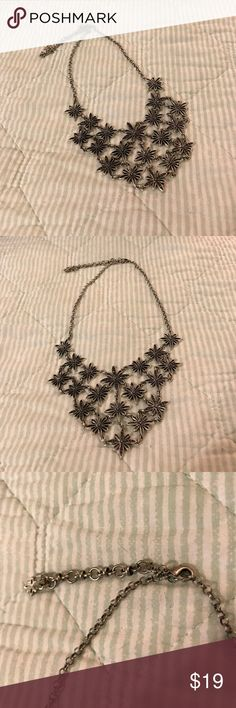 Lucky Brand Flower Bib Necklace Super cute bib necklace! Reasonable offers accepted! Bundle for a private discount. Lucky Brand Jewelry Necklaces