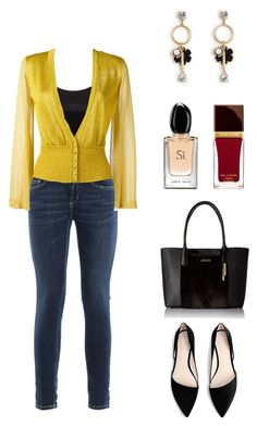 """everyday casual chic"" by cozykittycat on Polyvore featuring Dondup, Missoni, MANGO, Calvin Klein, Ann Taylor, Giorgio Armani and Tom Ford"