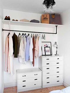 Ideias simples para adaptar no seu closet nesse post do Blog Midá. Vai lá!!!