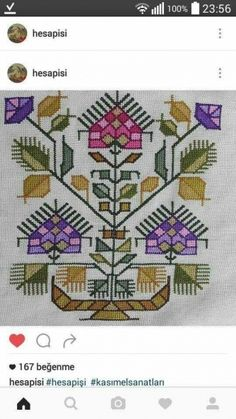 This Pin was discovered by Süh Basic Embroidery Stitches, Hand Work Embroidery, Wool Embroidery, Vintage Cross Stitches, Cross Stitch Embroidery, Embroidery Patterns, Crochet Patterns, Cross Stitch Boards, Cross Stitch Art