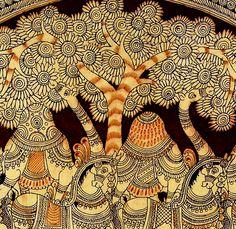 Pen Craft- Kalamkari Curators of Contemporary Crafts Madhubani Art, Madhubani Painting, Phad Painting, Kalamkari Painting, Kerala Mural Painting, Indian Folk Art, Naive Art, Indian Paintings, Aboriginal Art