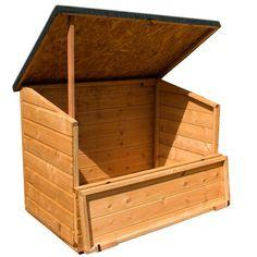 4 X 3 Waltons Wooden Garden Storage Chest