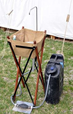 Camp Sink - expensive but great idea-would be easy to make the foot pumped faucet.