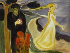 Separation - Edvard Munch Paintings