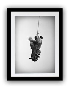 Working Men Hanging from Crane  #history #oldpictures #oldphotos #wallcollections #historicalphotos #blackandwhiteart #blackandwhitepictures #vintagephotos #historicalpix #artforwall