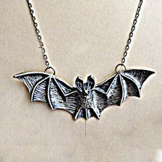 Bat Necklace now featured on Fab.